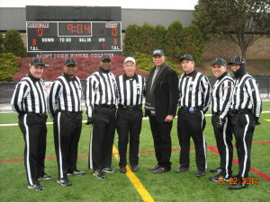 ECAC Northwest Bowl - West Conn St (14) at St John Fisher (28) - Jeff Thibodeau, Mike Savage, Sean McKinnie, Barry Fowler, Ronnie Nunn (ECAC rep), Jim Woods, Peter Bowman, Anthony Inzero