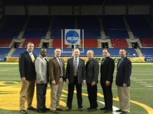 NCAA FCS Second Round - S Dakota St (24) at N Dakota St (27) - Rob Kinter, Darin Patrick, Mike Hill, Charles Lamertina, Ray Renart, Bill Moran, and Brian Wisniewski