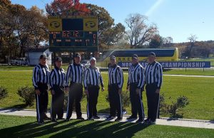 NE-10 Conference Championship - Assumption (23) at LIU (43) - John Salmon, Matt Mooney, Bryan Fortier, Eric Lewis, Justin Kozlowski, Alan Bartolini, Dave Gustafson