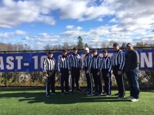 NE-10 Conference Championship - New Haven (14) at Assumption (17) - Eric Perrelli, Brian Dumais, Bryan Fortier, Jeff Gensiejewski, Ryan Peterson, Ron Annand, Jim Rourke