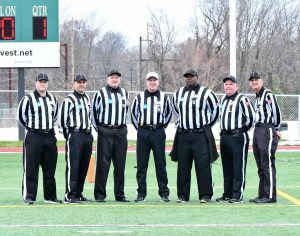 NCAA D3 First Round Muhlenberg (20) at Delaware Valley (13) - Keith Flagg, Tyler Perry, Richard Newman, William Gooselin, Chris Hadden, Gerry Morrissey, John Zayanskosk